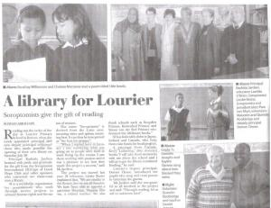 Lourier Library media coverage 2012 - 1